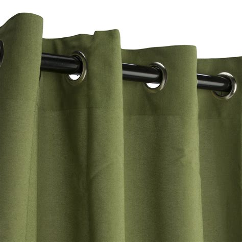 Sunbrella Drapes - spectrum cilantro grommeted sunbrella outdoor curtains