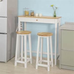 Bartisch Set Günstig : sobuy fwt50 wn bartisch set 3 teilig stehtisch mit 3 haken und einer schublade bistrotisch ~ Markanthonyermac.com Haus und Dekorationen