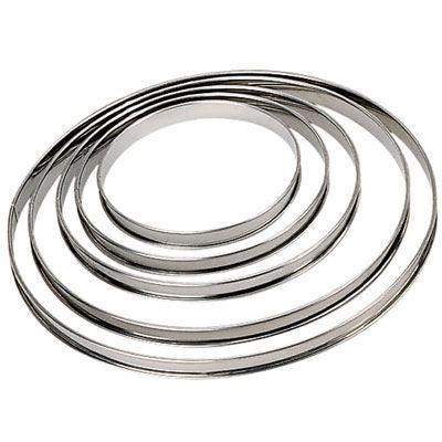 cercle cuisine inox cercle à tarte en inox ht 2cm bord roulé ø 16 achat