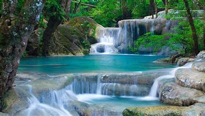 Nature Desktop Wallpapers Mobile Waterfalls Beauty Landscape