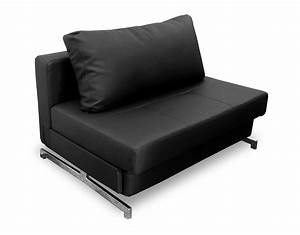 Modern black leather textile sofa sleeper k43 1 by ido for Black leather modern sectional sofa sleeper with ottoman