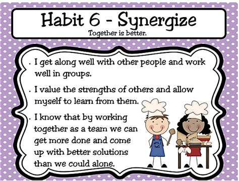 Habit 6  Synergize  Meadow Brook Elementary