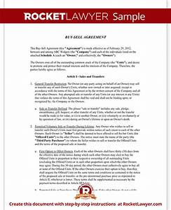 buy sell agreement form sample buy sell agreement template With business buyout agreement template