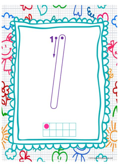 year  handwriting number formation charts nsw nz print