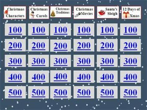 christmas holiday jeopardy  scijive teachers pay teachers