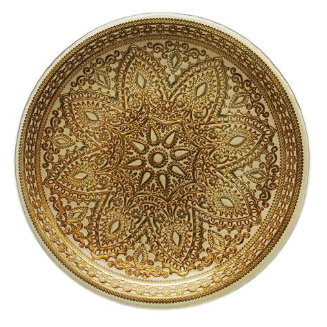 The Jay Companies 1900051 Round Divine Gold Glass Charger