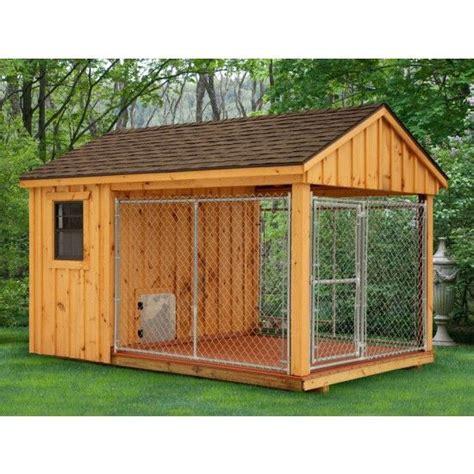 amish heated dog kennel  dog house plans dog house diy
