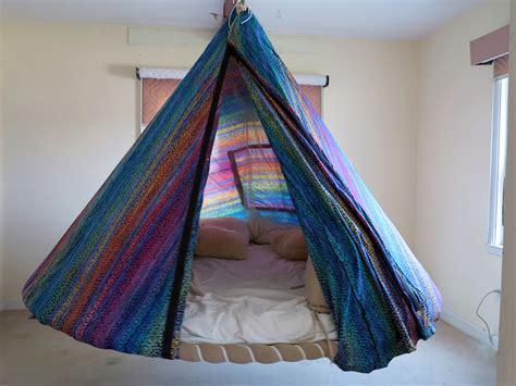 batik fabric tent  floating bedindoor  outdoor