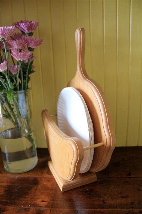 wooden paper plate holder  katelouiseanna  etsy paper plate holders plate holder wooden