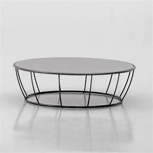 Plateau En Verre Rond : amburgo 6287 table basse ronde tonin en m tal plateau en ~ Teatrodelosmanantiales.com Idées de Décoration