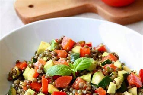 salade d été originale salade de lentilles aux l 233 gumes