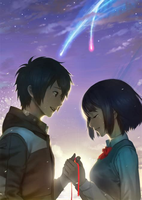 Anime Your Name Kimi No Na Wa Link 2016 Random Thoughts Kimi No Na Wa Your Name Image 2169286 Zerochan