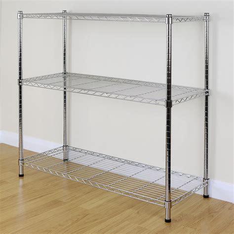 3 Tier Chrome Metal Storage Rackshelving Wire Shelf