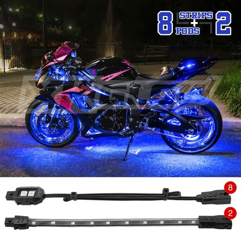 Led Motorcycle Lights by Custom Motorcycle Underglow Accent Neon 60 Led 8 Pod 2