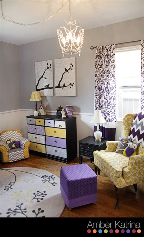 Yellow Grey And Purple Living Room by Photography Southern California 187