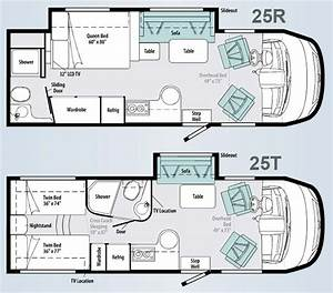 winnebago via class a motorhome floorplans large picture With toterhome floor plans