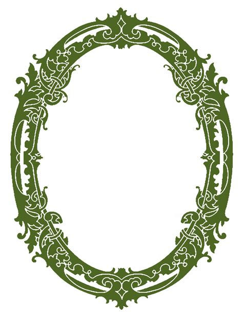 oval christmas frames vintage clip stunning silhouette frames the graphics