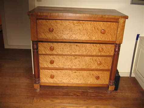 Birdseye Maple Highboy Dresser by Study