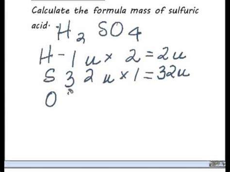 formula mass calculation youtube
