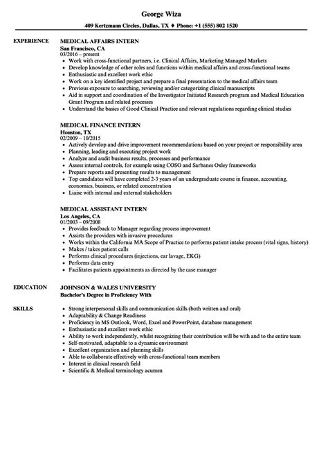 Medical Intern Resume Samples  Velvet Jobs. Sample Resume For Retail Job. Best Resume Format For Experienced. Entry Level Web Developer Resume Examples. Resume Management. Resume Format Download In Ms Word 2007. Subject Of Mail For Sending Resume. Resume Sample For Hr. Medical Administrative Assistant Resume Sample