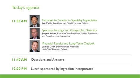 Ingredion (INGR) Presents At Consumer Analyst Group Of New ...