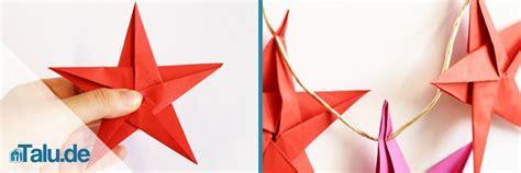 Fünfzackiger Falten by Origami Falten Aus Papier Basteln Talu De