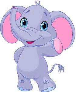 Cartoon Baby Elephant Clip Art