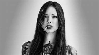 Tattoo Smoking Lady Woman Cigarette Hair Wallpapers