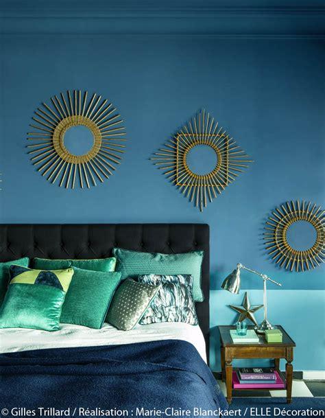 canape osier peindre murs en bleu et vert dans appartement sympa l