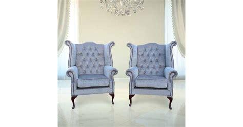 perla grey chesterfield pair fabric wing chair designersofasu