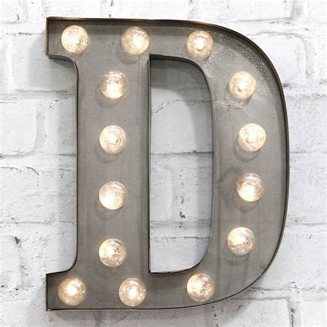 E Light by Carnival Letter Lights A To Z Industrial Silver By