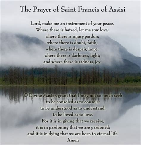 prayer of francis of assisi st francis of assisi the saints and prayers