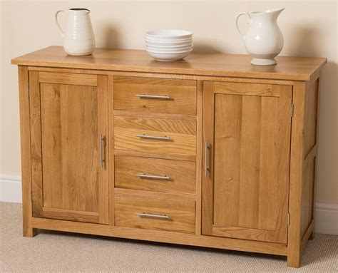 Large Sideboard Oak by Oslo Solid Oak Large Sideboard Oak Furniture King