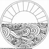 Circle Coloring Mandala Scroll Getcoloringpages Drawing Designs Patterns sketch template