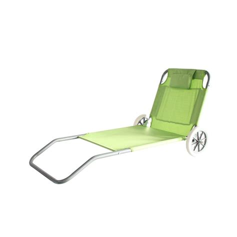 Chaise De Plage Pliable à Roulettes  Electro Dépôt