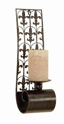 cheap wall sconces for candles large tuscan world metal fleur de lis candle wall