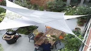 Toile Extérieure Pour Terrasse : voile d 39 ombrage pour une d co de terrasse sympa ~ Melissatoandfro.com Idées de Décoration