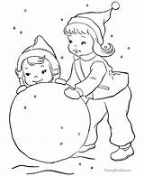 Coloring Winter Preschool Popular sketch template