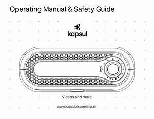 Kapsul Operating Manual  U0026 Safety Guide  U2013 Kapsul