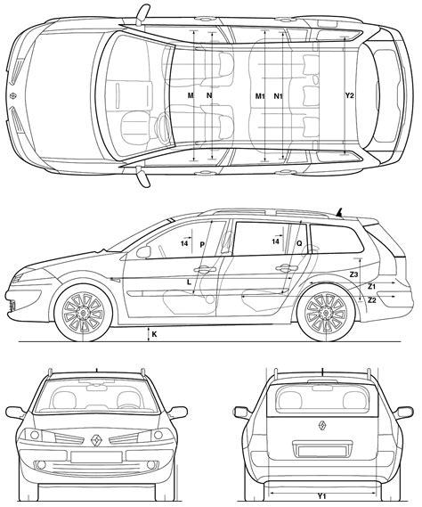 2005 renault megane wagon blueprints free outlines