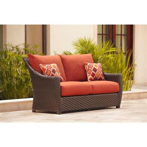 Patio Loveseat Cushion by Brown Highland Patio Loveseat With Cinnabar