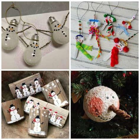 diy snowman ornaments  christmas snowman ornament