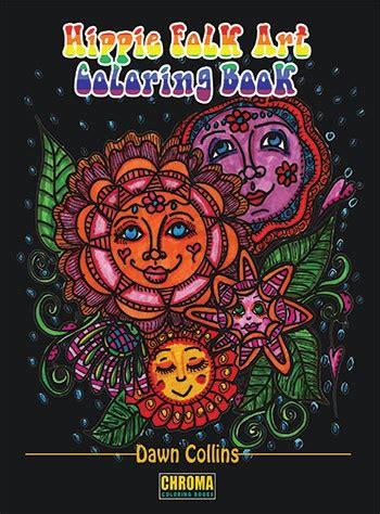hippie folk art coloring book  mindful word