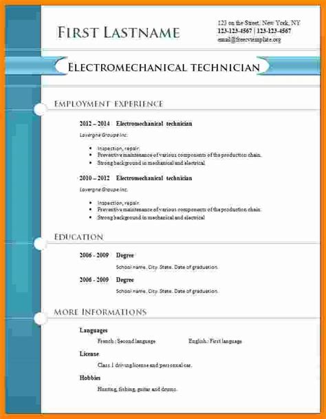 Free Cv Format by 10 Cv Professional Format Free Theorynpractice