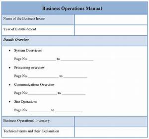 best photos of business operations plan template With operations manual template for small business