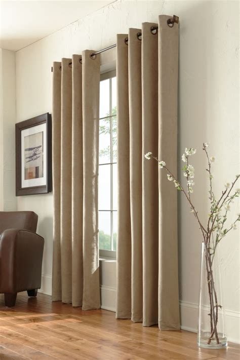 home decorators collection grommet taupe 54 x 95 the