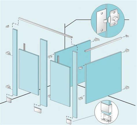 Charming Bathroom Stall Parts With Bathroom Door Hinges