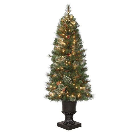 4 5 ft pre lit led alexander fir artificial christmas