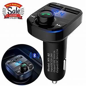 Aikesi Bluetooth Fm Transmitter For Car Portable Wireless