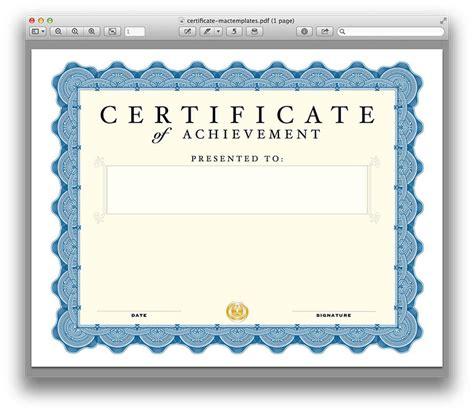 certificate template  pages   mactemplatescom